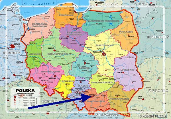 Польщі вид вавелю зі сторони